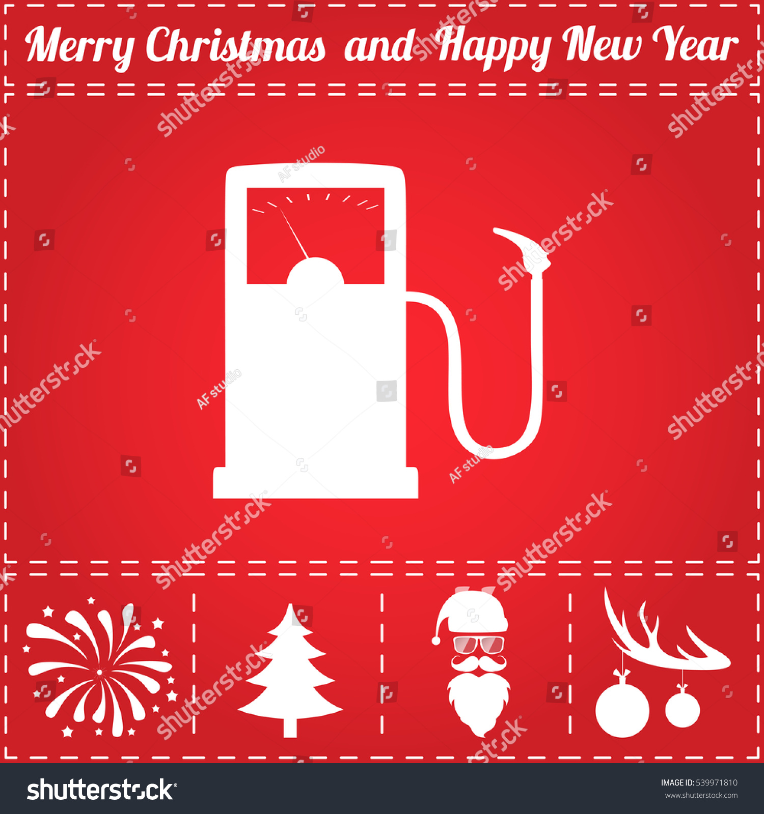 gas station icon vector and bonus symbol for new year santa claus christmas - Are Gas Stations Open On Christmas