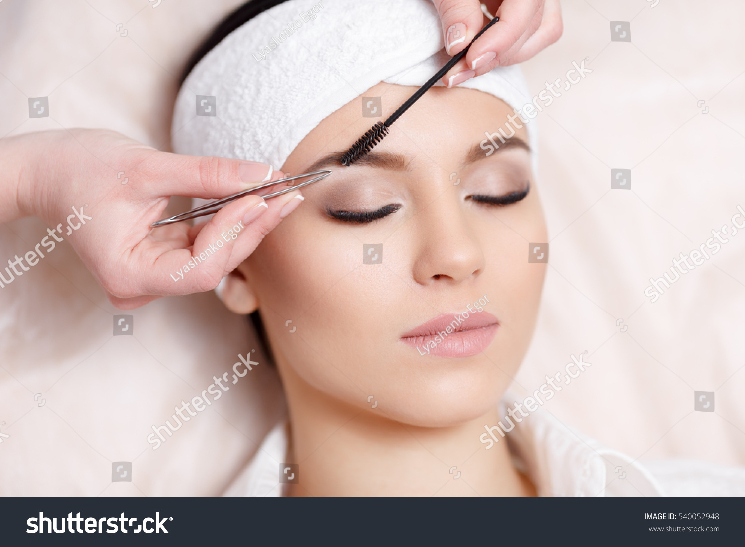 Permanent Makeup Beautiful Young Woman Gets Stock Photo Edit Now