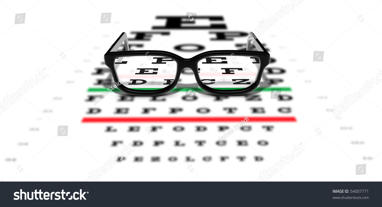2d119f69c20 Prescription Glasses Sitting On Eye Test Stock Photo (Edit Now ...
