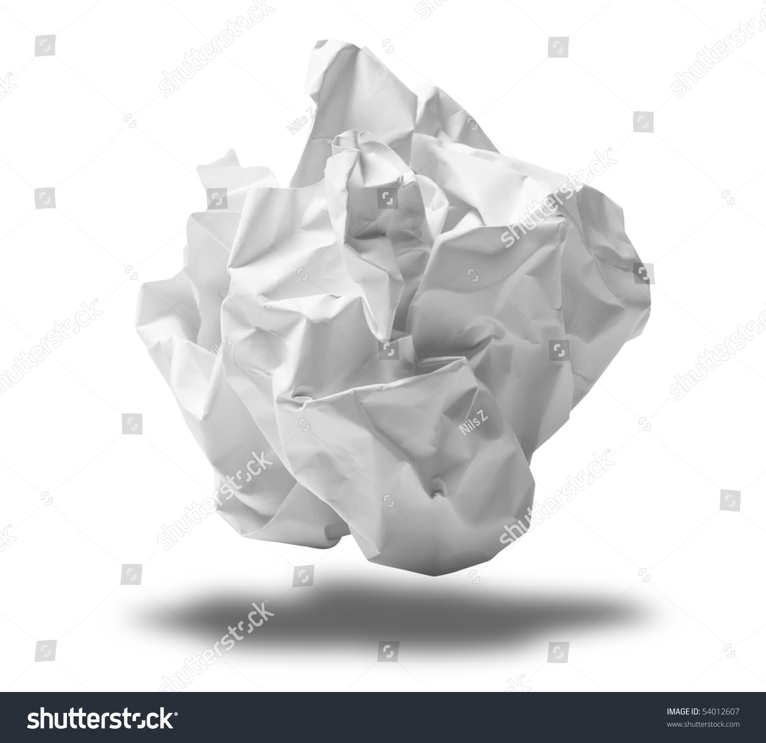 crumpled paper ball stock photo (edit now) 54012607 - shutterstock