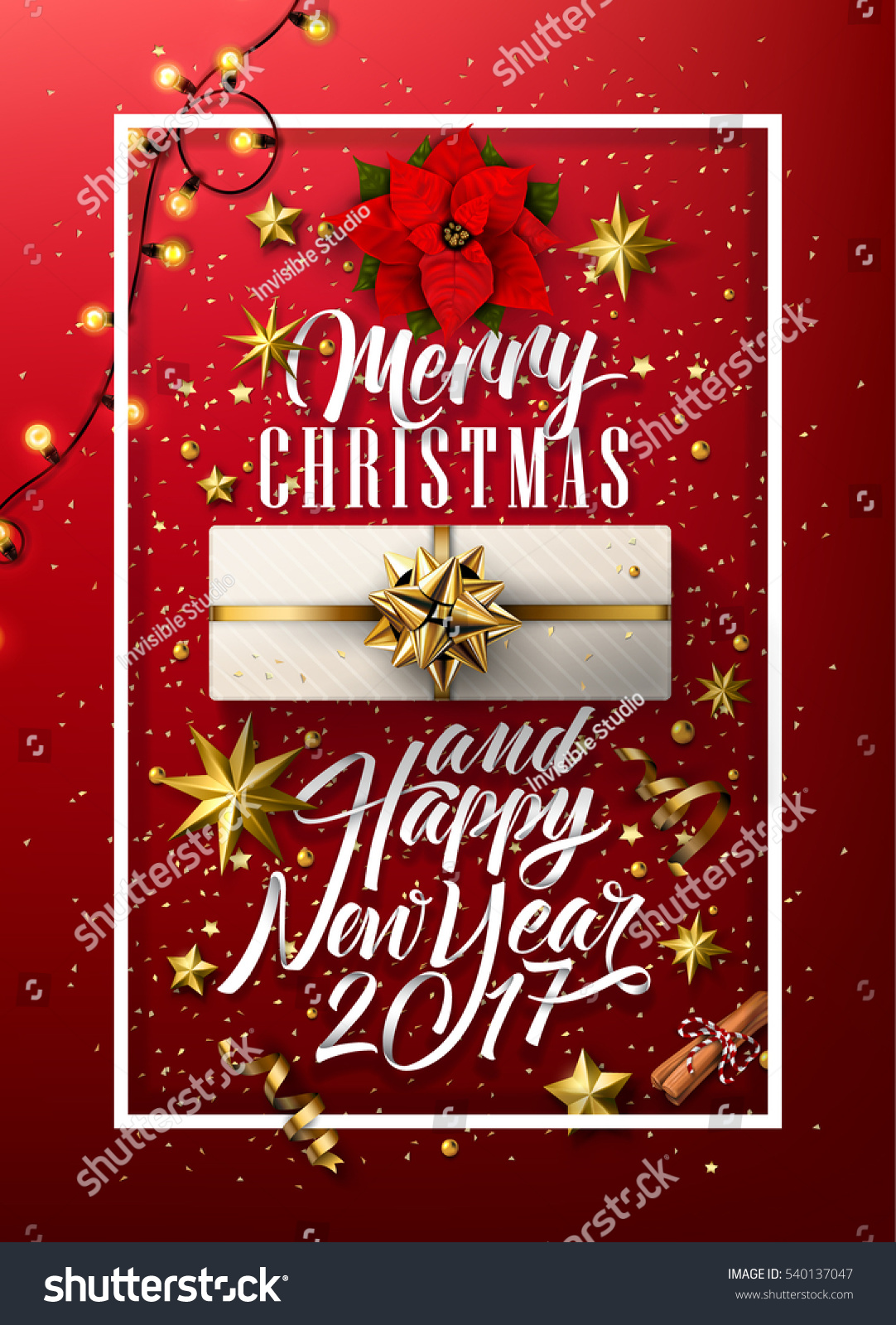 Merry christmas happy new year everyone stock vector 540137047 merry christmas and happy new year everyone vintage background with typography and elements kristyandbryce Gallery