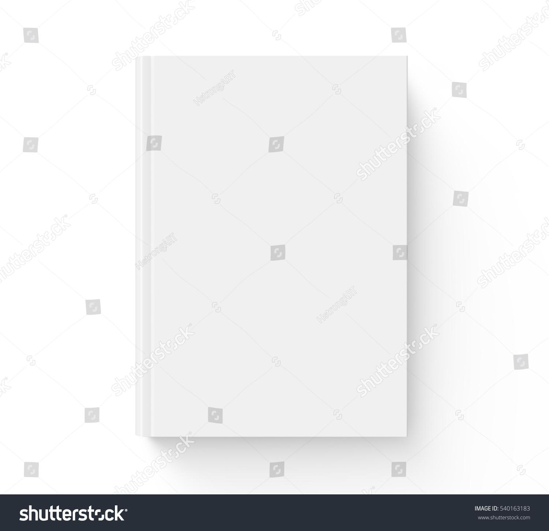 White Book Cover Design : Blank hard cover book template stock illustration