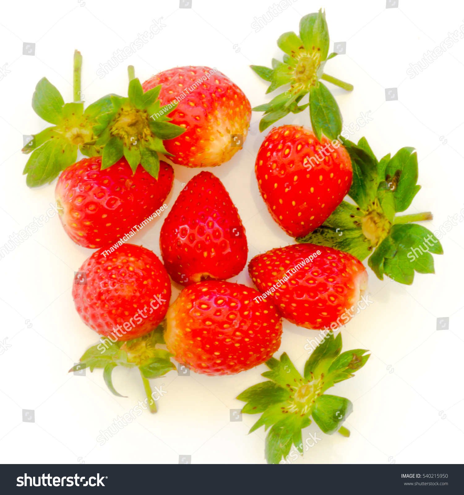 Strawberries Close Up On White Background Stock Photo ...