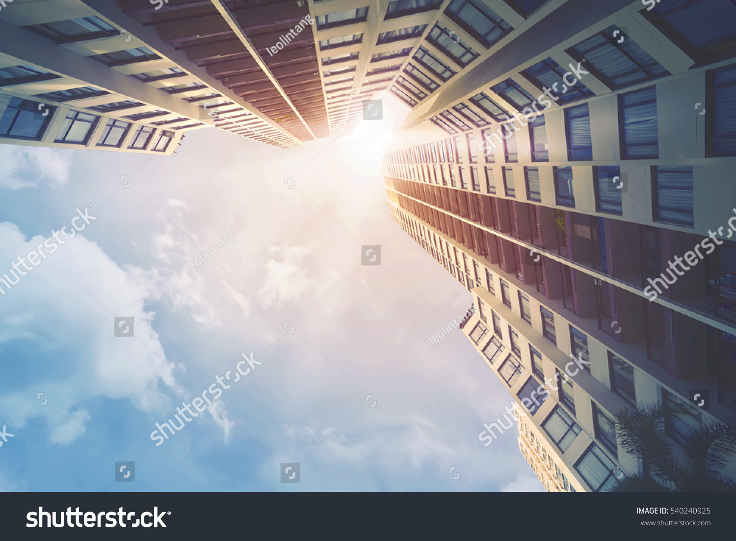 Futuristic architecture cityscape view with modern building skyscrapers #540240925