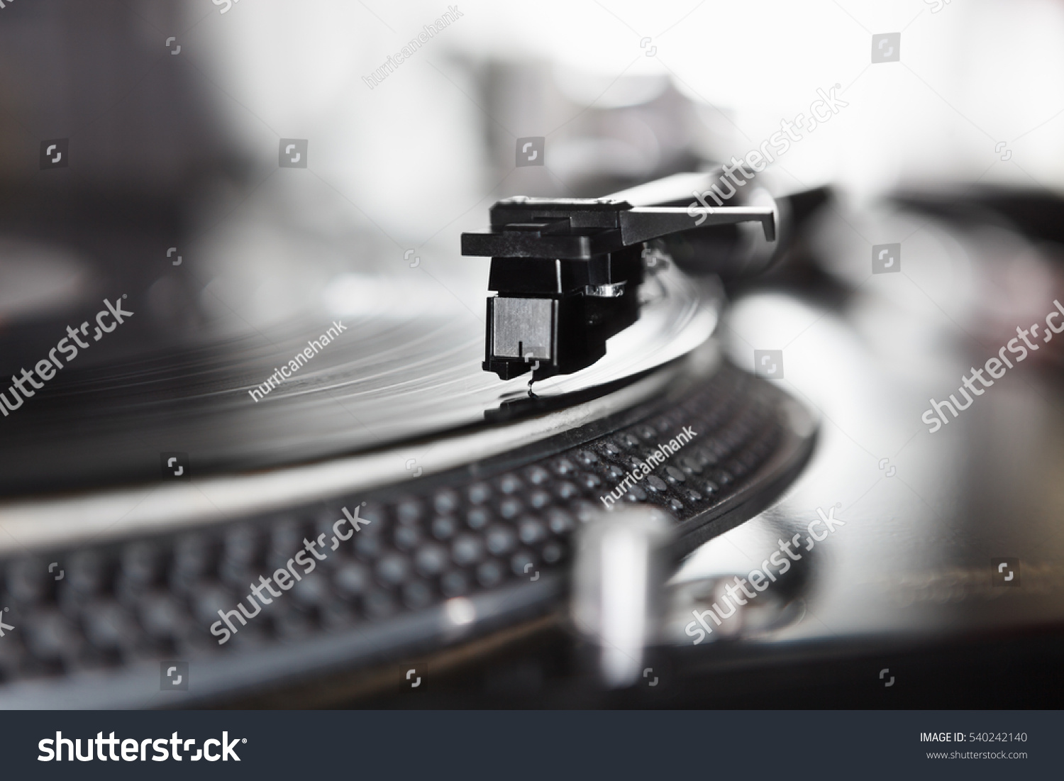Turntable Vinyl Records Player Playing Analog Stock Photo ...