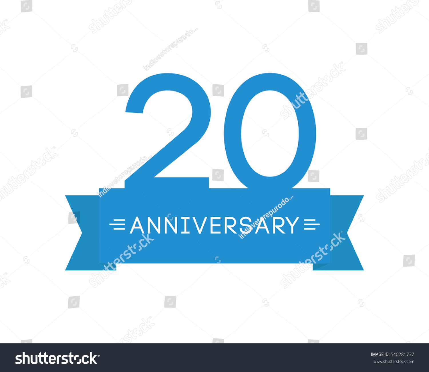 Anniversary twenty years label icon element stock vector 540281737 anniversary to twenty years the label icon element ribbon greeting cards banners m4hsunfo