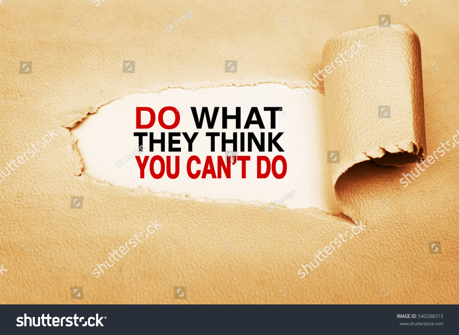 Do what they think you can't do. Motivation quote written behind a ...: https://www.shutterstock.com/image-photo/do-what-they-think-you-cant-540288313
