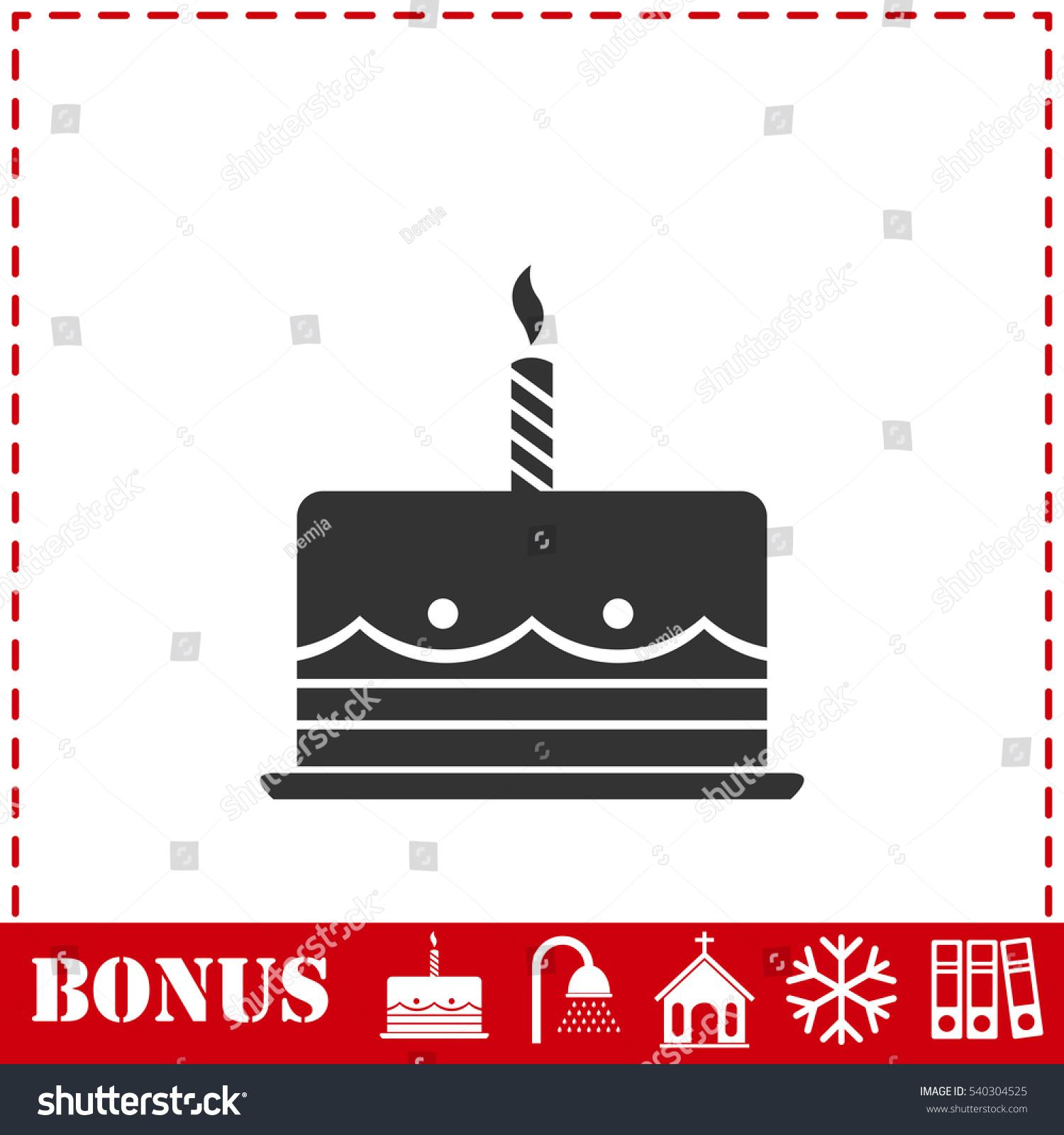 Birthday cake icon flat simple vector stock vector 540304525 birthday cake icon flat simple vector stock vector 540304525 shutterstock biocorpaavc