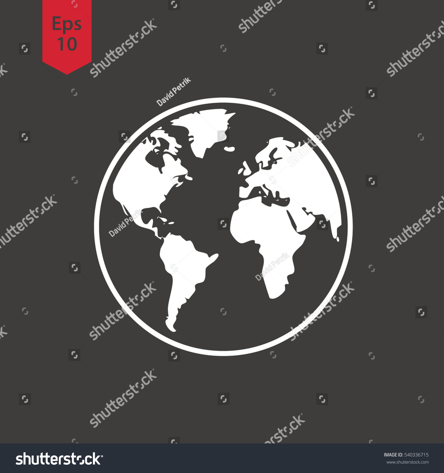 Simple globe icons earth flat sign stock vector 540336715 simple globe icons earth flat sign symbol of world map vector illustration biocorpaavc