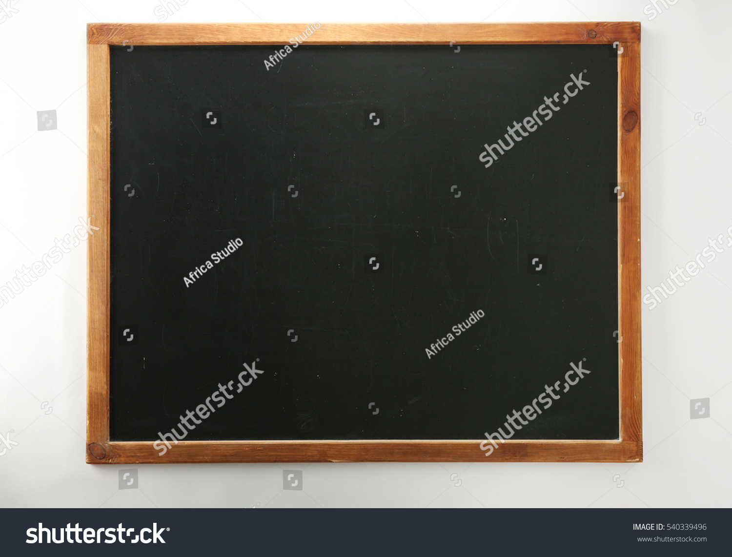clean chalkboard on white background stock photo 540339496 shutterstock. Black Bedroom Furniture Sets. Home Design Ideas