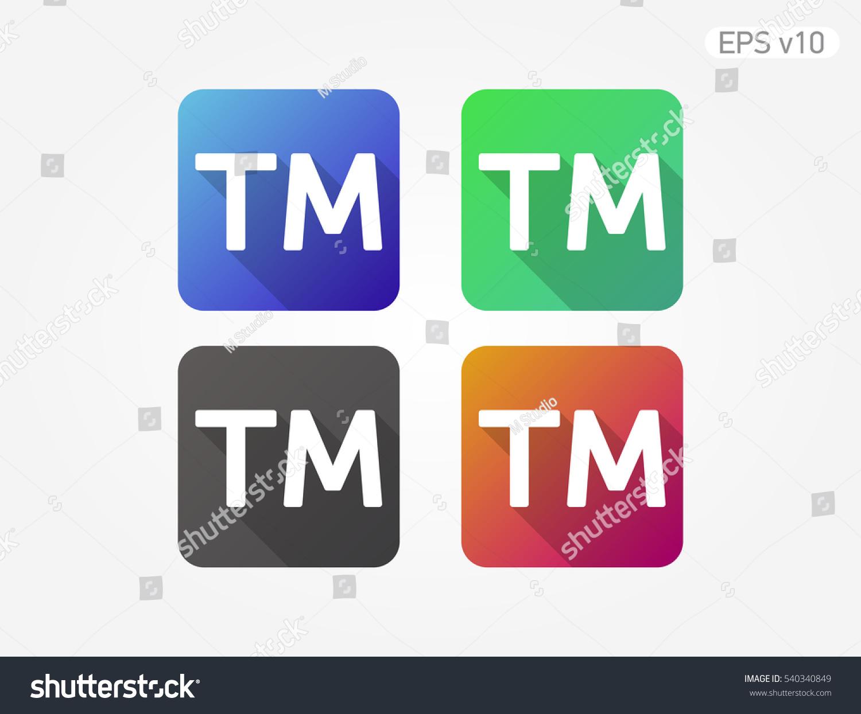 Colored icon trademark symbol shadow stock vector 540340849 colored icon of trademark symbol with shadow buycottarizona