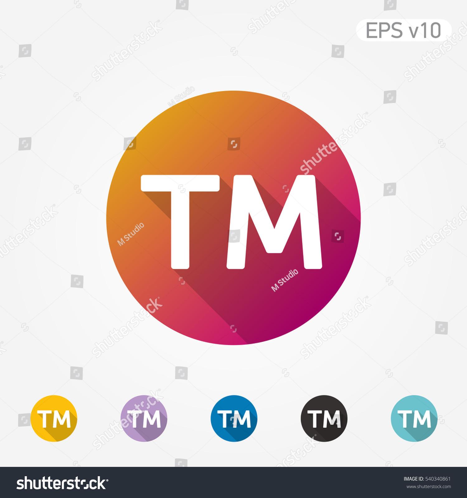 Colored icon trademark symbol shadow stock vector 540340861 colored icon of trademark symbol with shadow buycottarizona