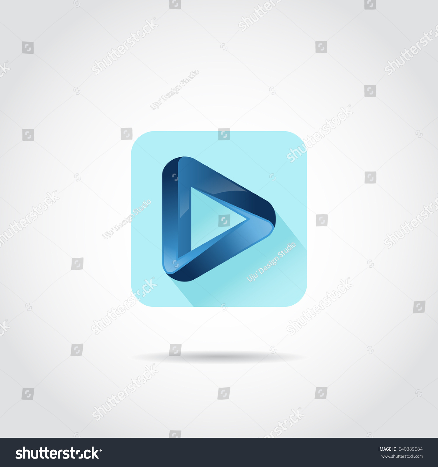3d blue play icon apps android stock vector 540389584 shutterstock 3d blue play icon for apps android or iphone vector illutrator eps10 buycottarizona