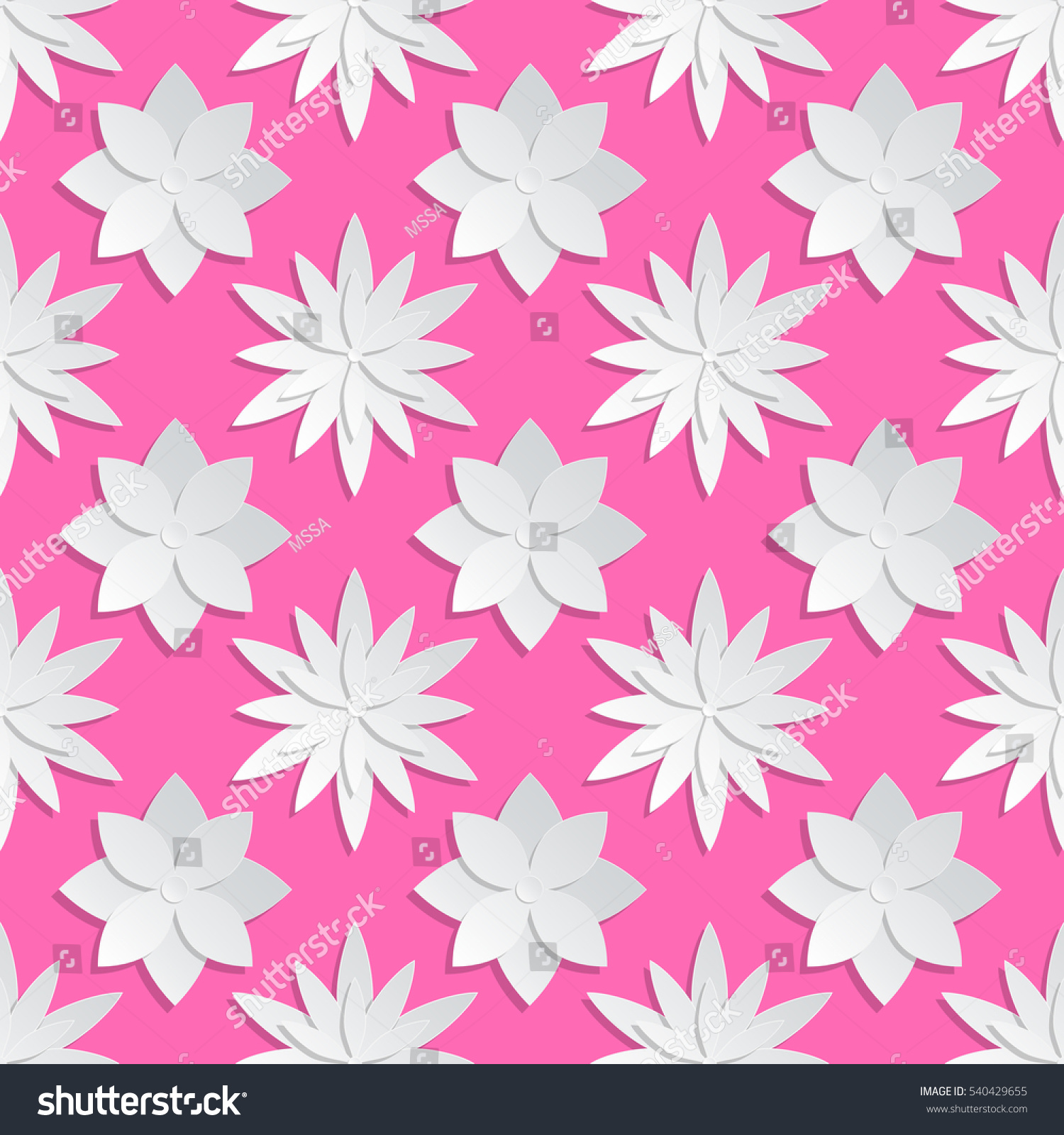 Paper Cut Flowers Background Origami Vector Stock Vector Royalty