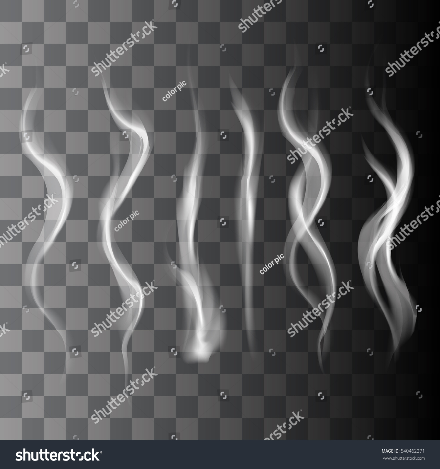 realistic smoke vector transparent graphic template stock vector