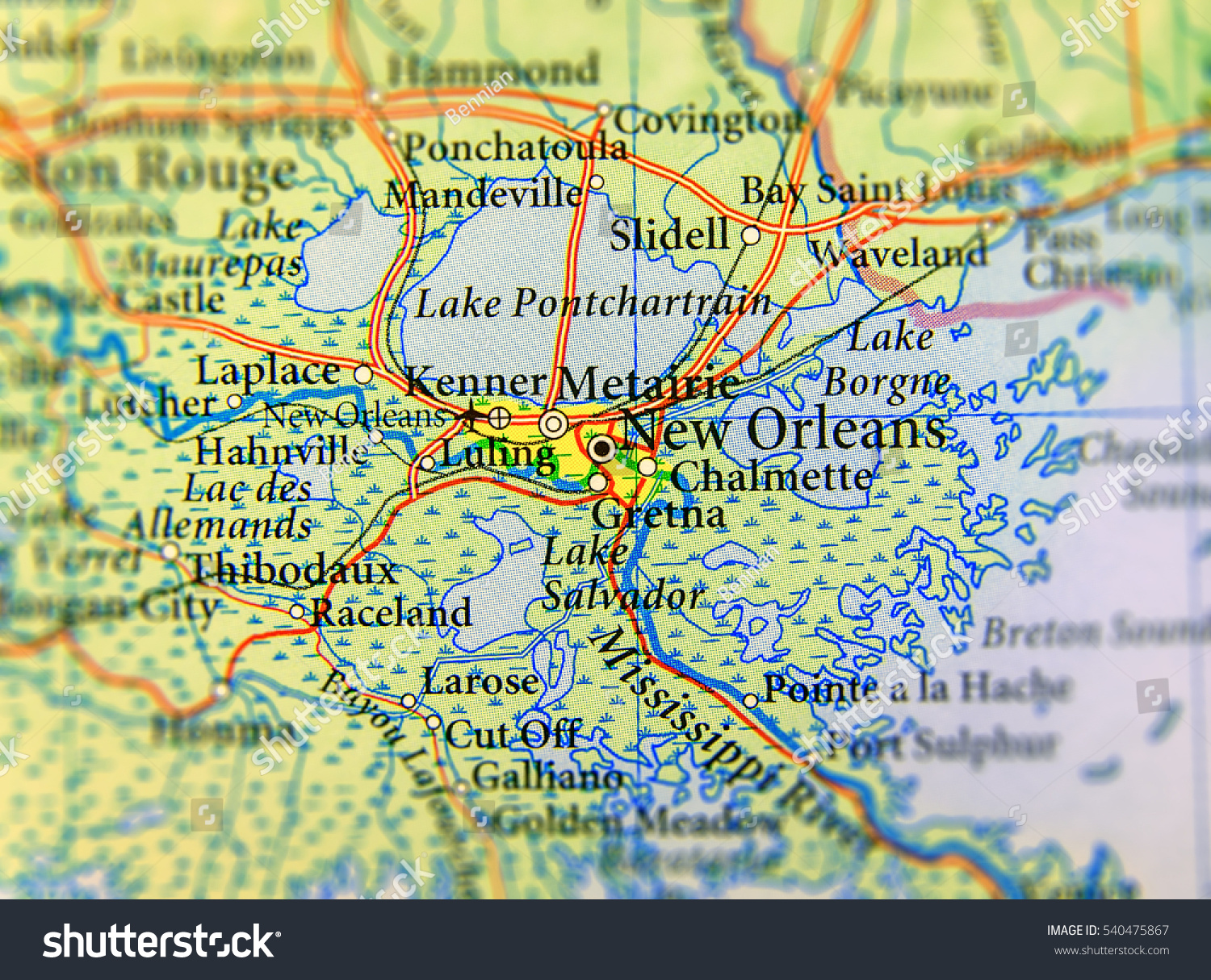 Louisiana Geographical Map - Geographic map us