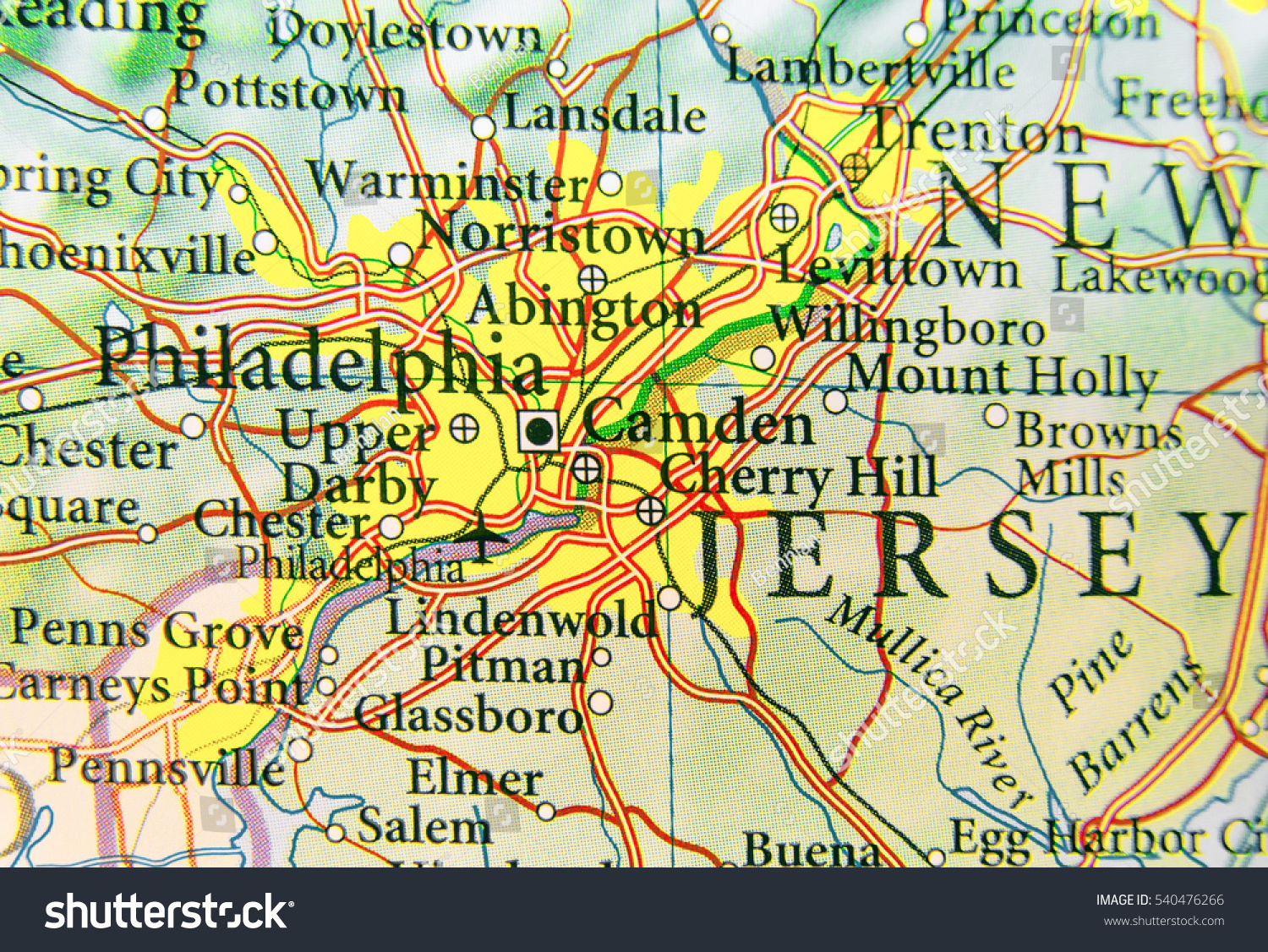 Geographic Map Us City Philadelphia Other Stock Photo - Ographic map us
