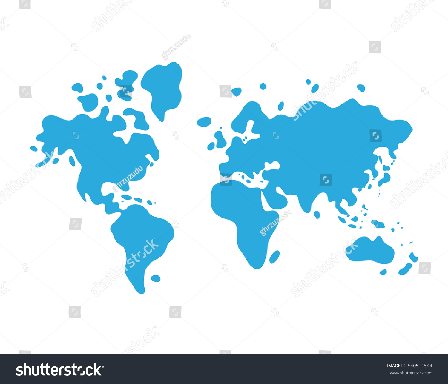 Blue world map cartoon icon stock vector royalty free 540501544 blue world map cartoon icon gumiabroncs Gallery