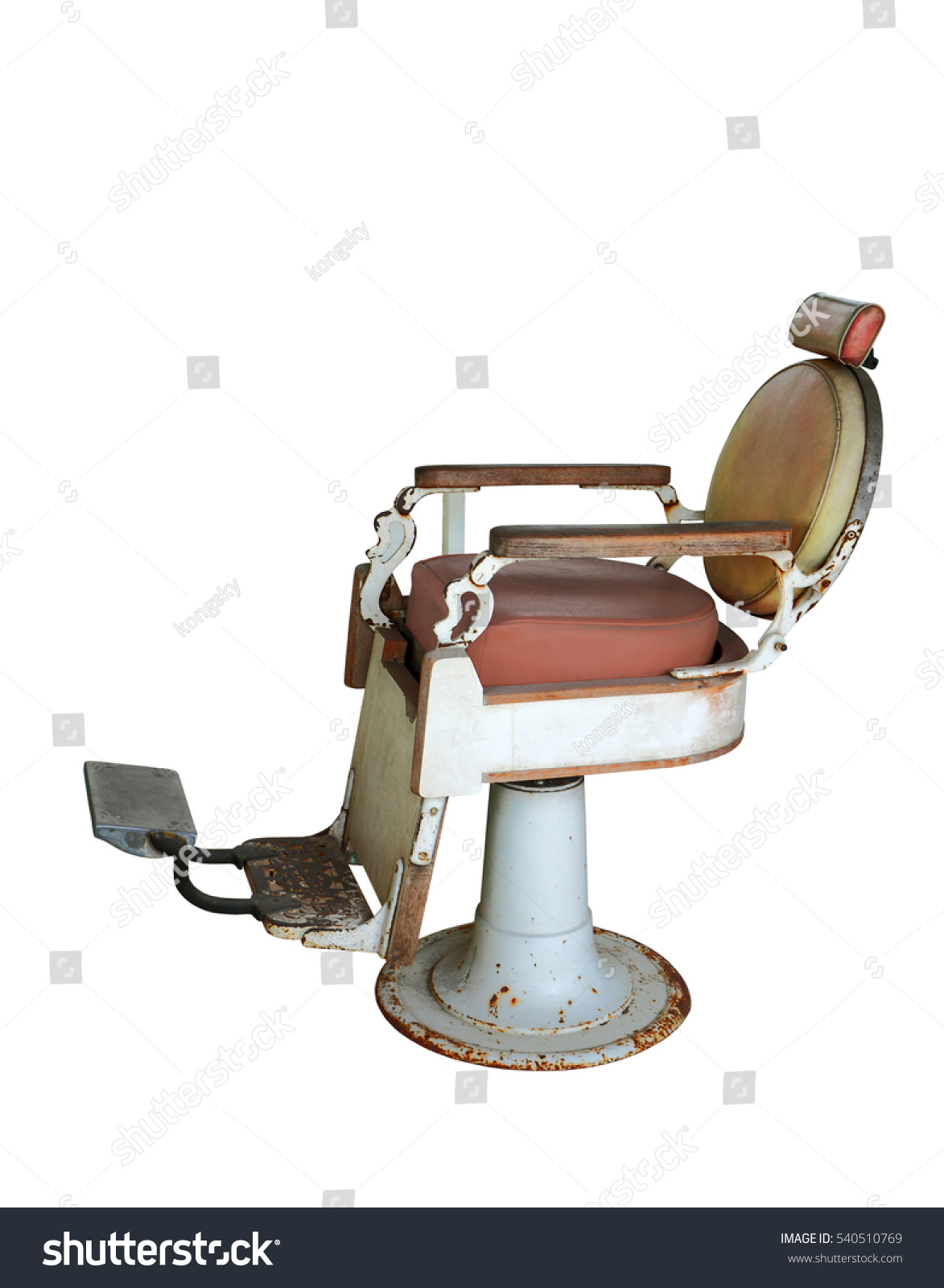 Hair salon chair isolated stock photos illustrations and vector art -  Vectors Illustrations Footage Music Old Barber Chair Isolated On White Background Clipping Path