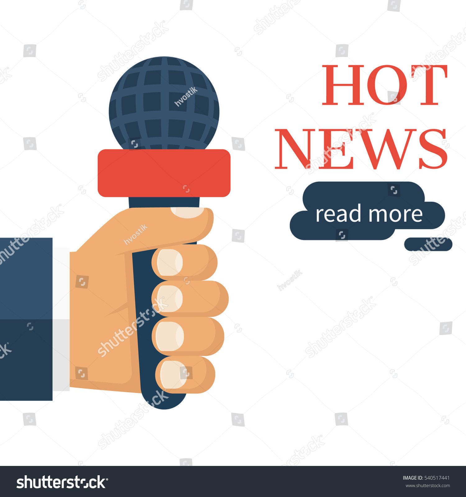Hand Holding Microphone Live News Report Vector 540517441 – News Report Template
