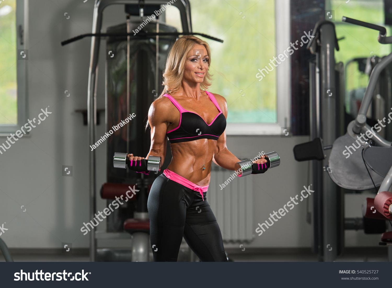 Muscular mature woman