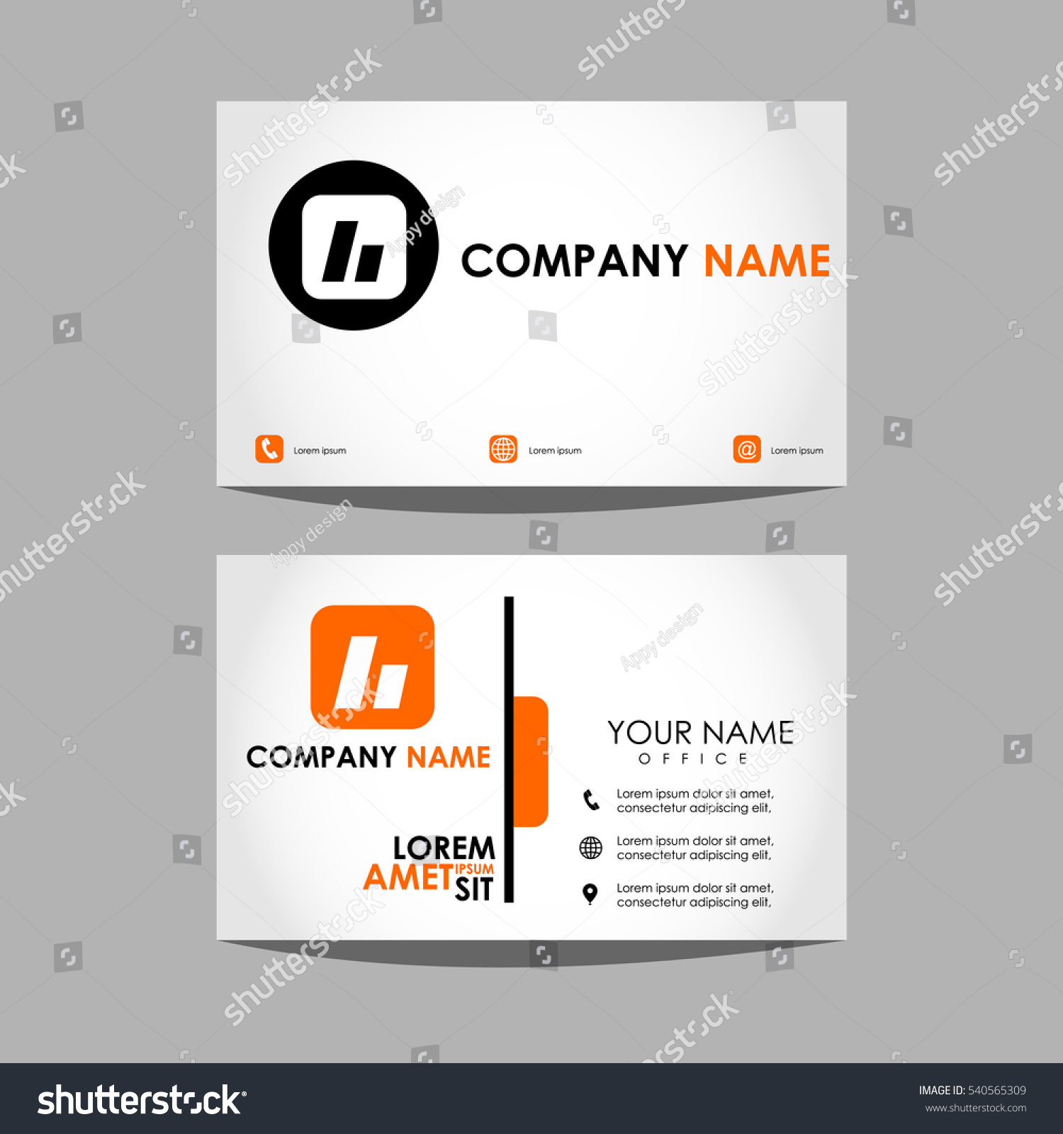 Layout Design Template Id Card Business Stock Vector 540565309 ...