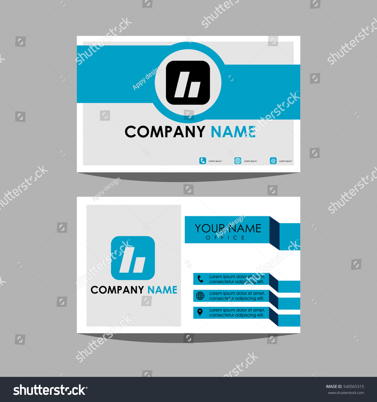 Layout Design Template Id Card Business Stock Vector 540565315 ...