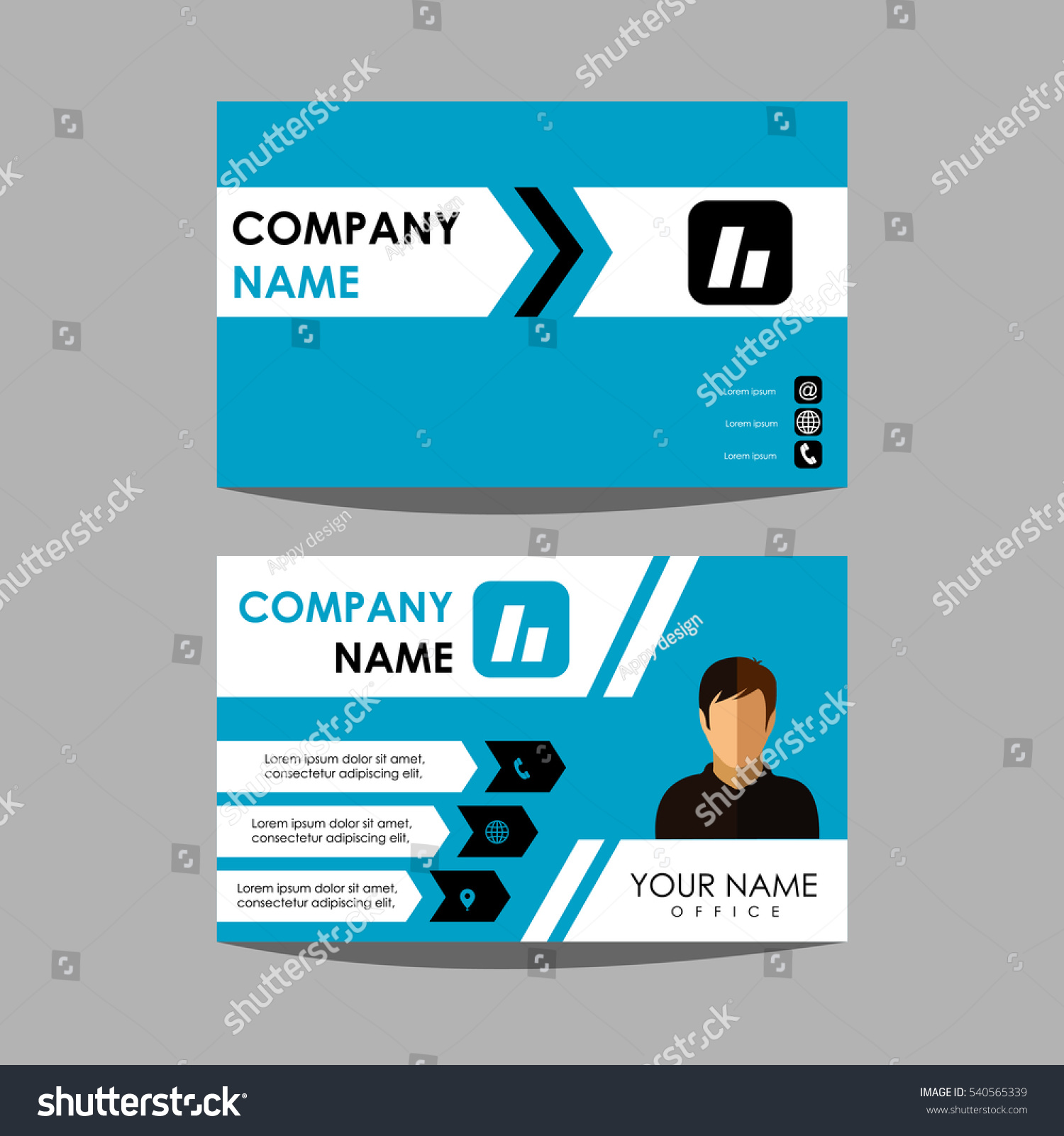 Layout Design Template Id Card Business Stock Vector 540565339 ...
