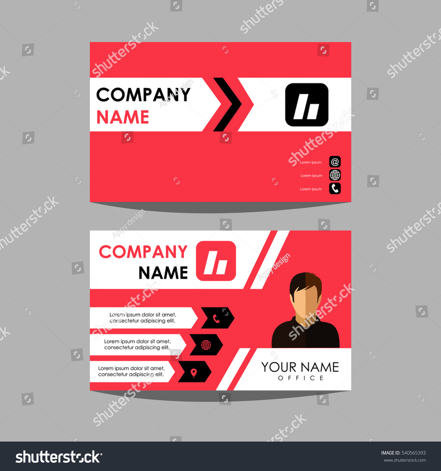 Layout Design Template Id Card Business Stock Vector 540565393 ...
