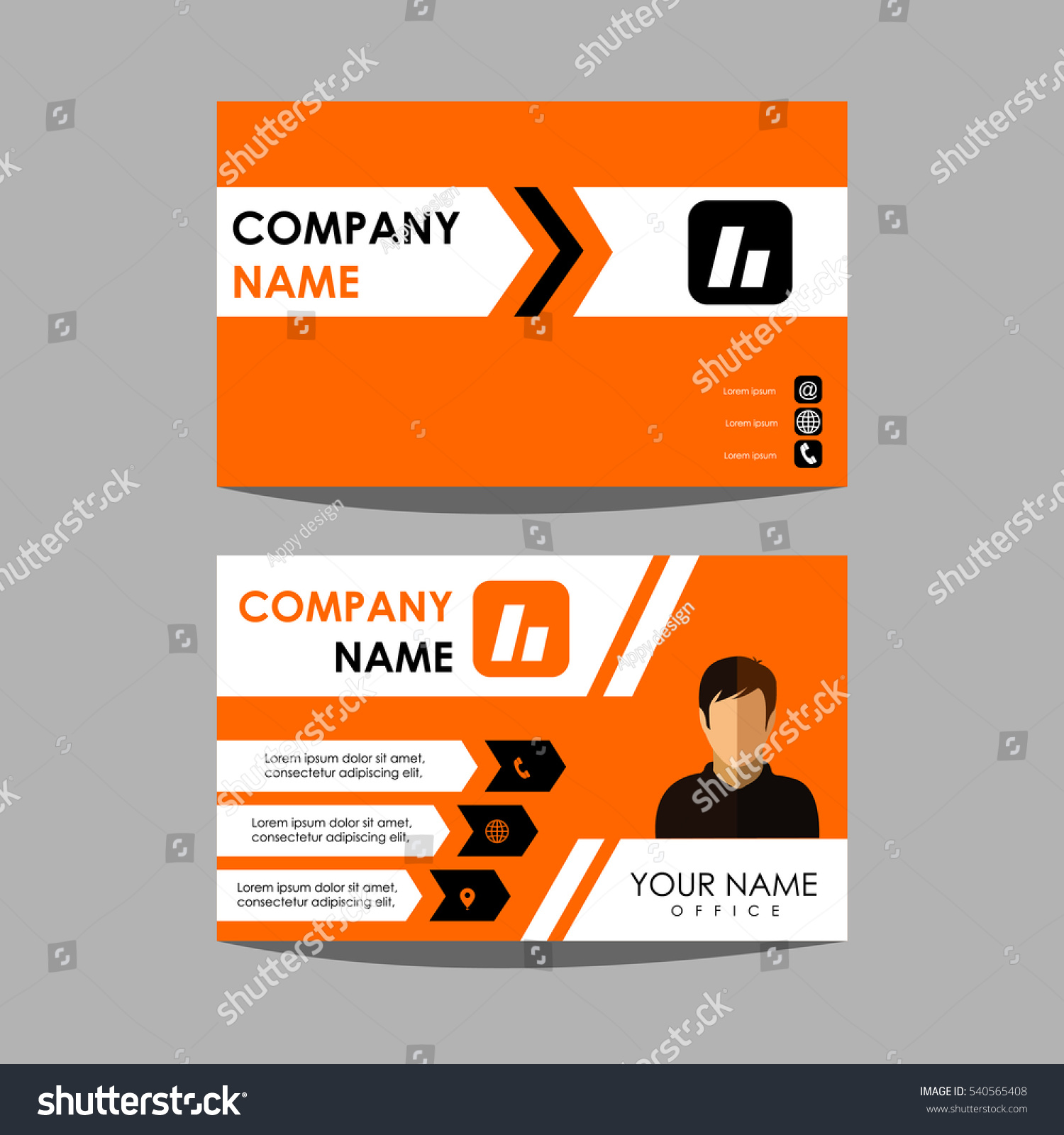 Royalty-free Layout design template id card and… #540565408 Stock ...