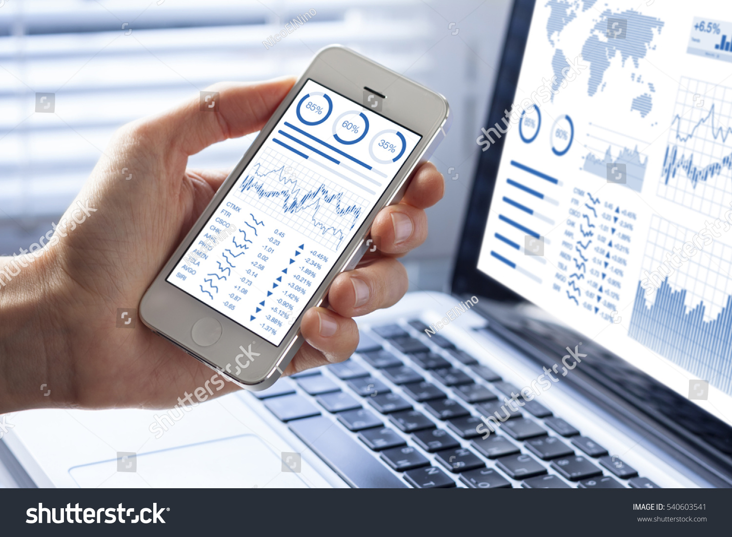 investor analyzing stock market investments financial の写真素材