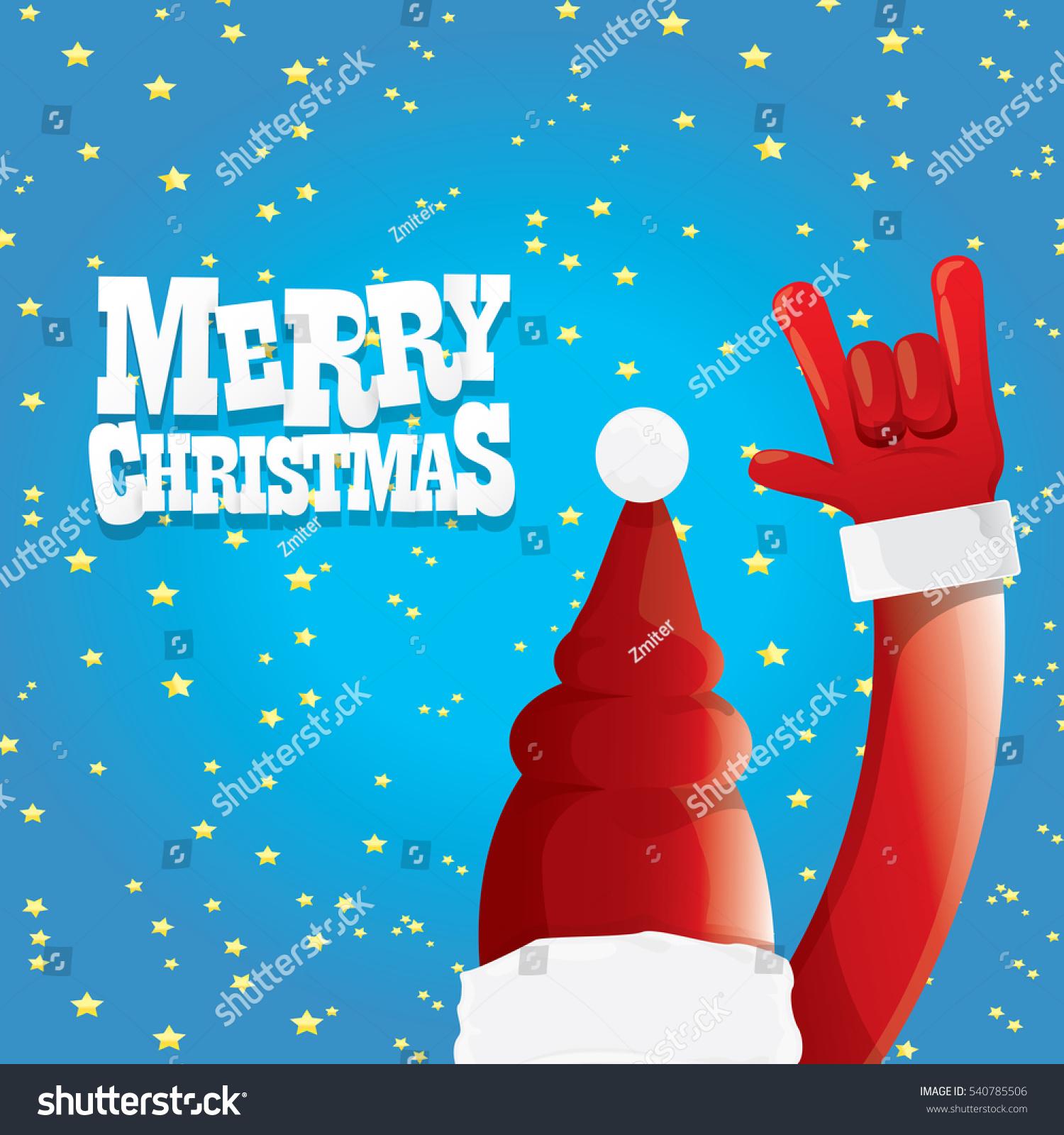 Vector Santa Claus Rock N Roll Stock Vector (Royalty Free) 540785506 ...