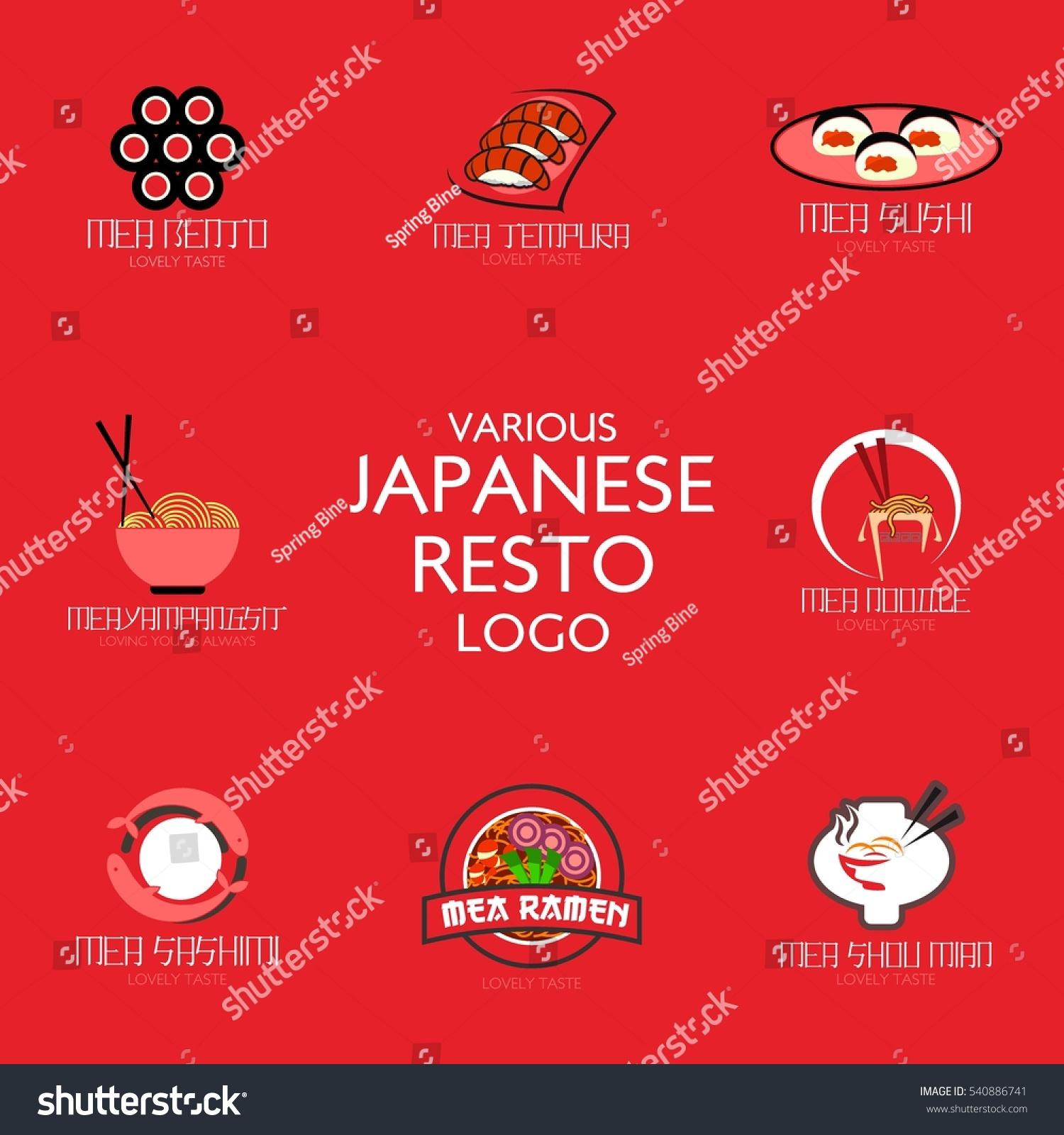 Vector De Stock Libre De Regalias Sobre Traditional Japanese Food Restaurant Logo Design540886741