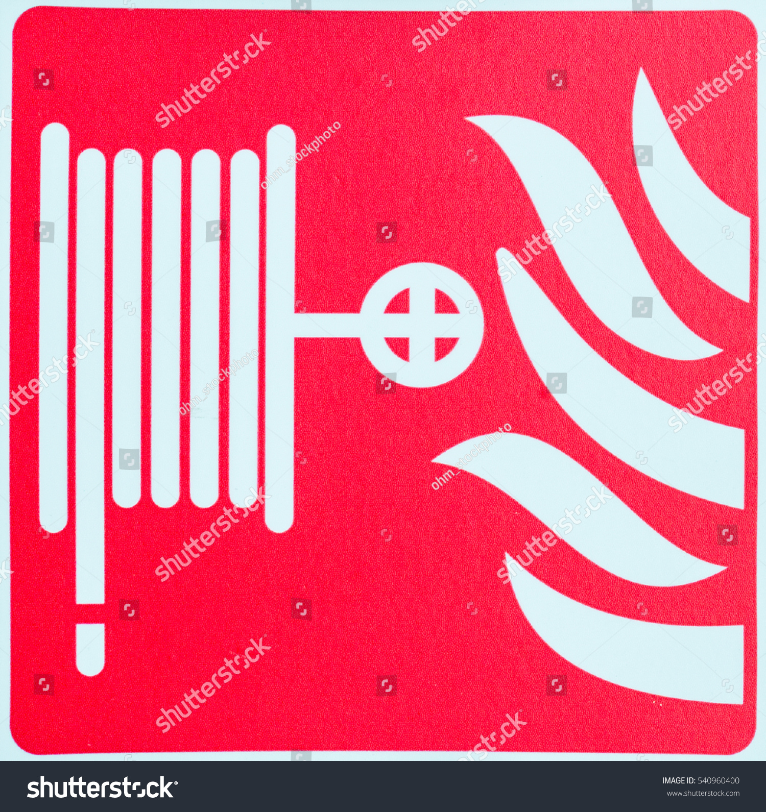 Fire Fighting Symbol Stock Photo 540960400 Shutterstock