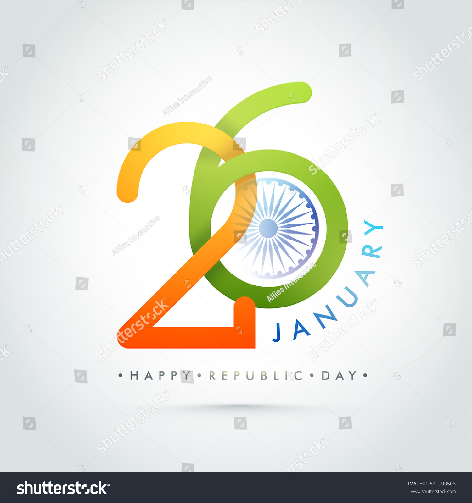 Colors website ashoka - Creative Indian Flag Colors Text 26 January With Ashoka Wheel Happy Republic Day Celebration Poster