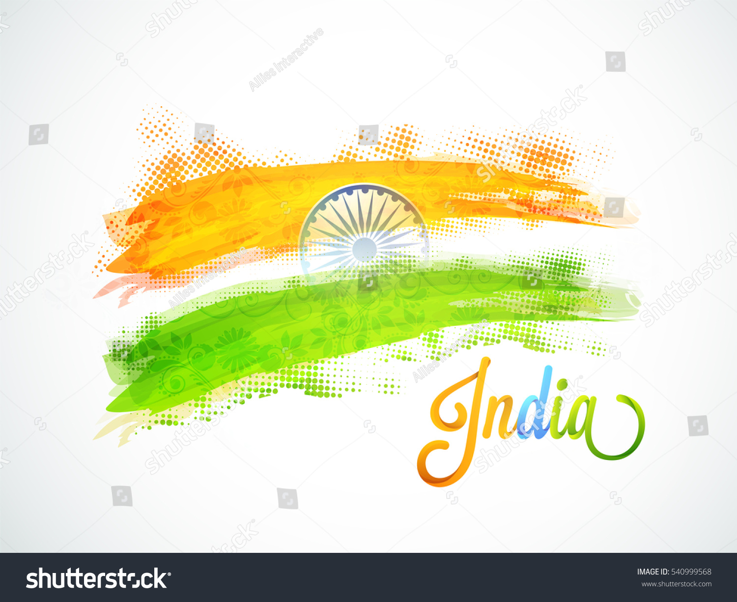 Colors website ashoka - Indian Flag Colors Brush Strokes With Ashoka Wheel Creative Poster Banner Design For Republic