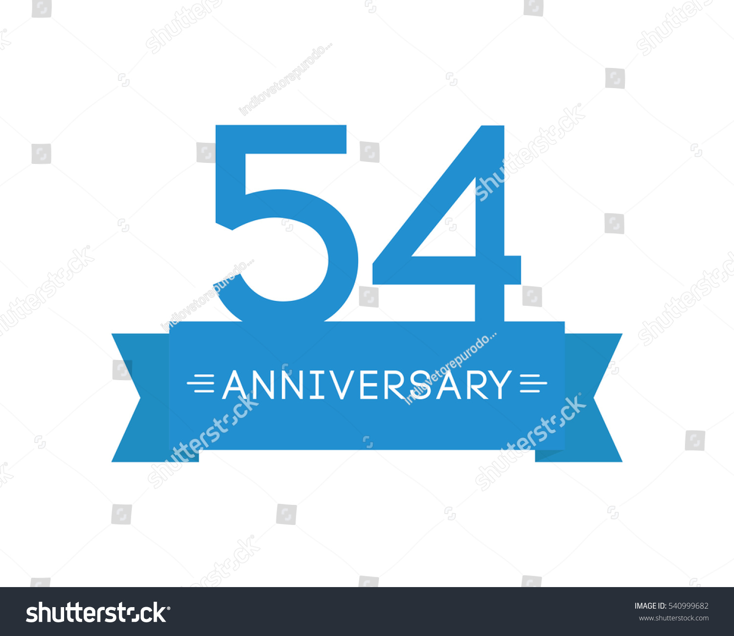 Anniversary fiftyfour years label icon element stock vector anniversary to fifty four years the label icon element ribbon greeting cards m4hsunfo