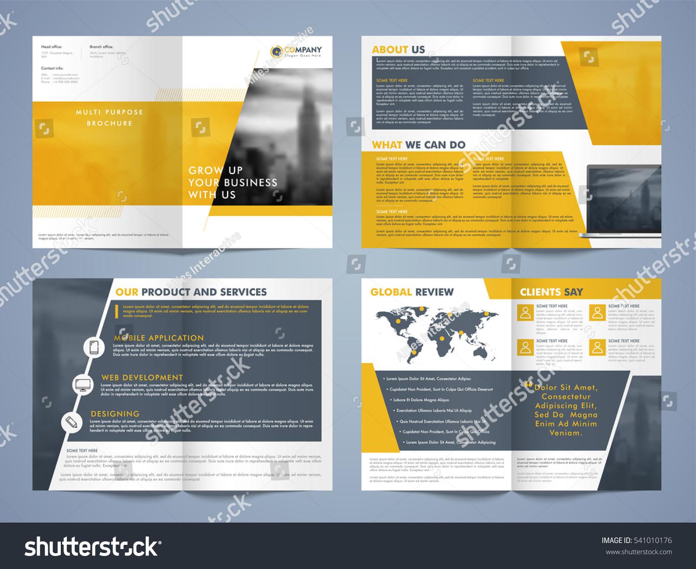 Set of brochure design templates design elements creative for Creative brochure design templates