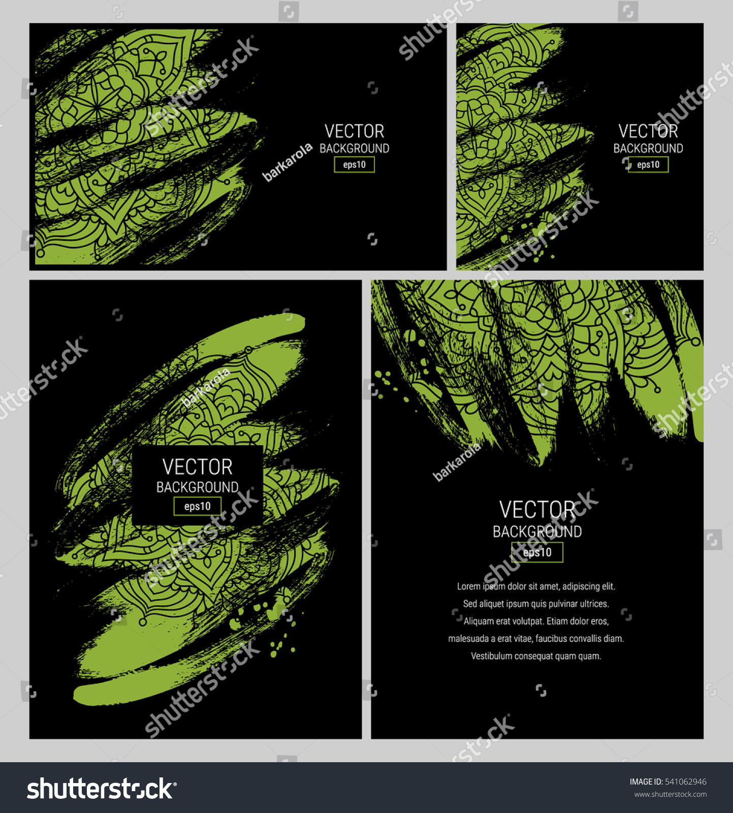 vector set business card templates mandala stock vector 541062946 vector set of business card templates mandala pattern invitation template abstract design