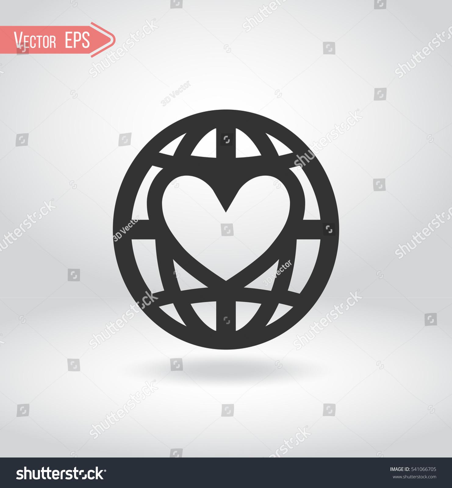 Illustration globe heart logo nonprofit organization stock vector illustration of a globe with heart logo for non profit organization symbol for buycottarizona
