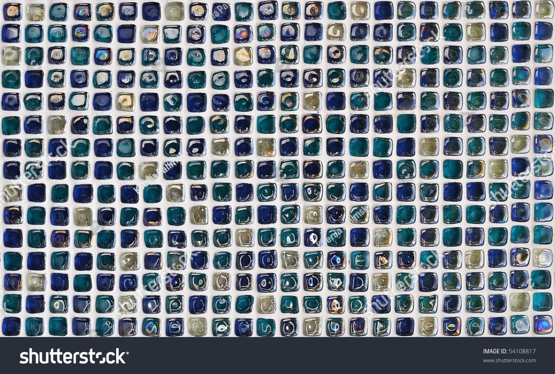 Bath Wall Glass Mosaic Tiles Texture Stock Photo 54108817