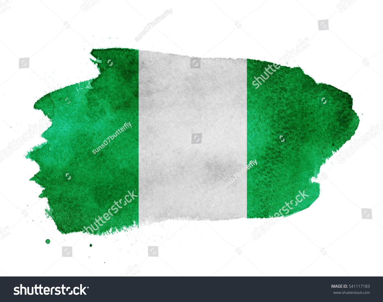 Dorable Página Para Colorear De Bandera De Nigeria Molde - Enmarcado ...