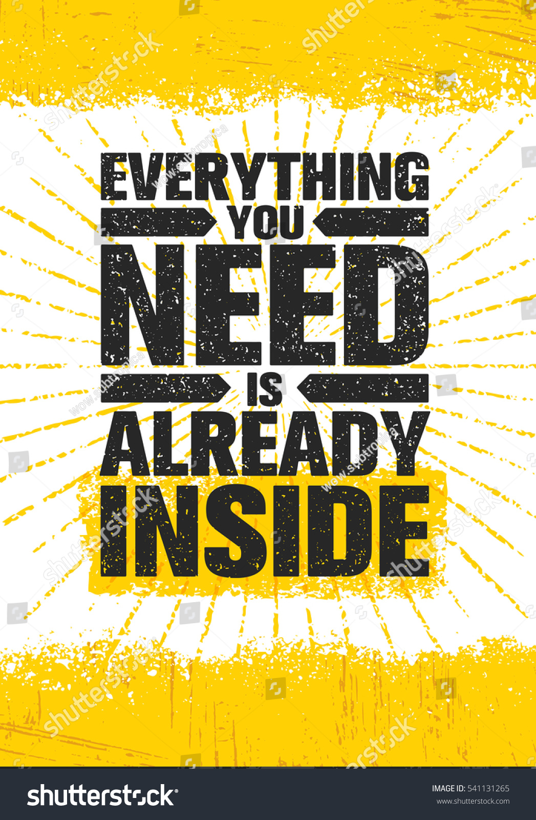 And Everything Else Too All Kinds Of Neighbors: Everything You Need Already Inside Poster Stock Vector