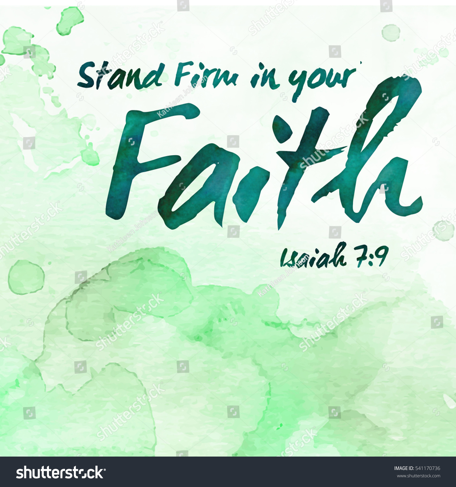 Stand Firm Designs : Stand firm your faith bible verse stock illustration