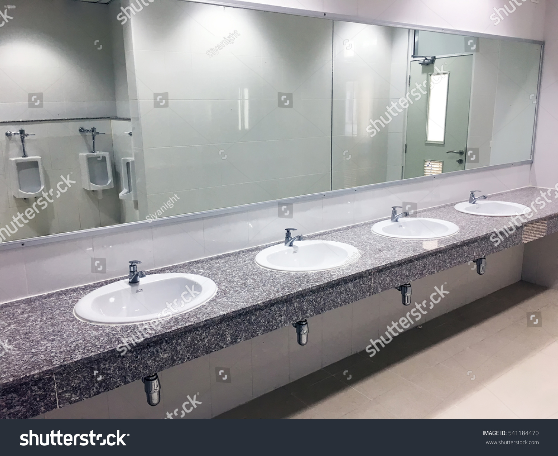 Toilet Sink Interior Of Men Public
