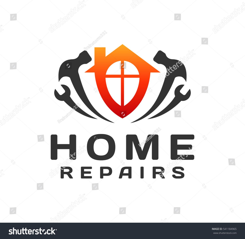 House Repair Logo. House, Real Estate, Construction, Building Logo. House  Vector