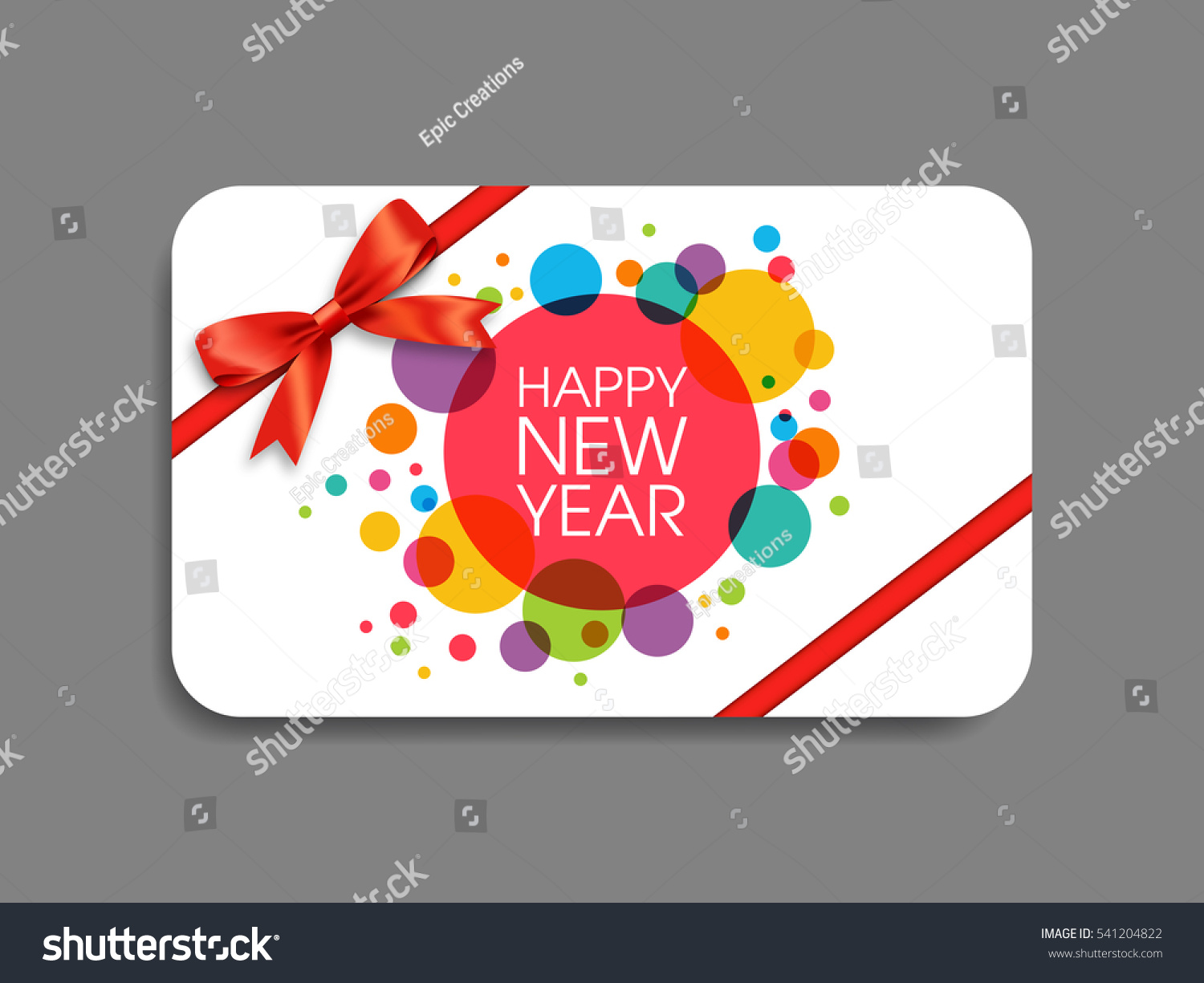 Gift Card Happy New Year 2017 Stock Vector Royalty Free 541204822