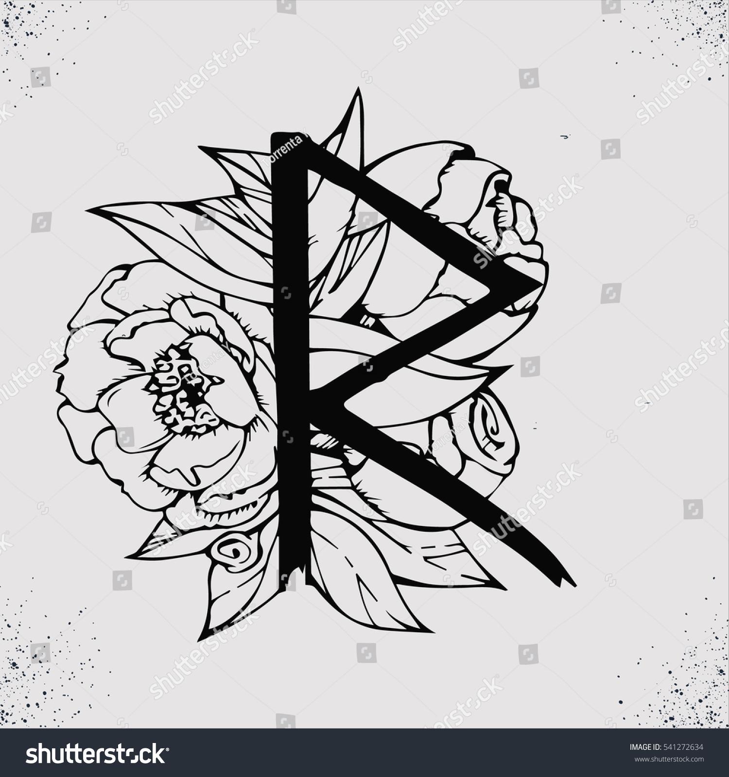 Old Norse Scandinavian Runes Rune Alphabet Stock Vector Royalty