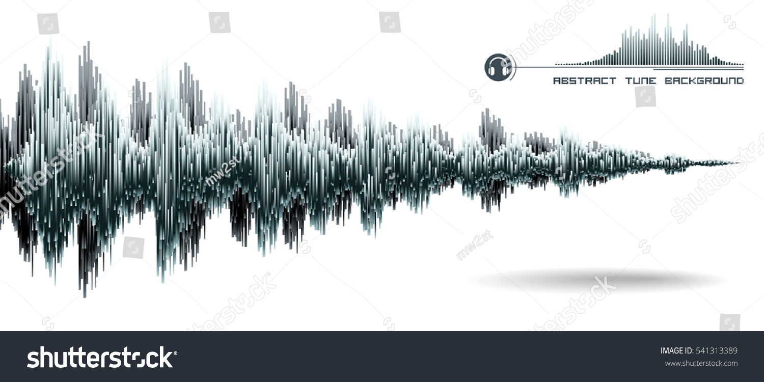 vector sound wave music waves oscillating stock vector 541313389