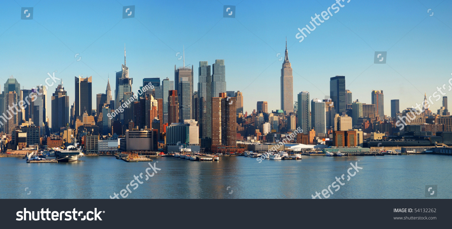 new york city panorama manhattan skyline stock photo 54132262 shutterstock. Black Bedroom Furniture Sets. Home Design Ideas